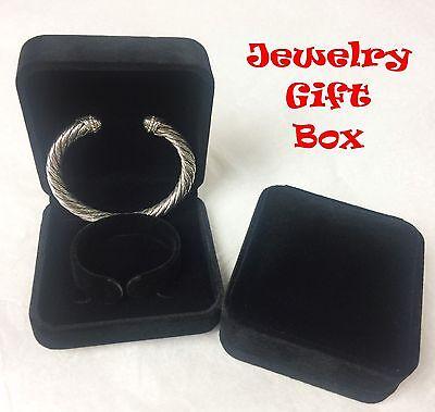 Velvet Jewelry Gift Box Bracelet Bangle Men Women Christmas