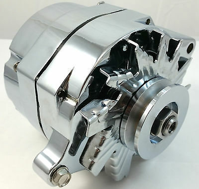 New Chrome SB Ford  1G Style 110amp 1 Wire Alternator Mustang 289 302 351  V8