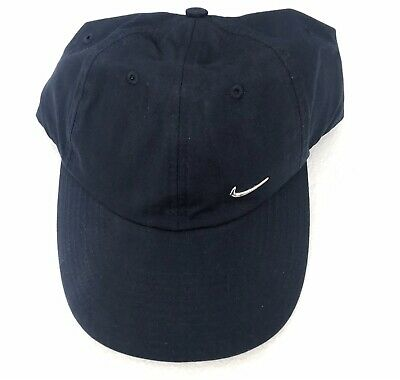 Nike Swoosh Metal Logo Adults Unisex Baseball Cap 593902 451 Navy