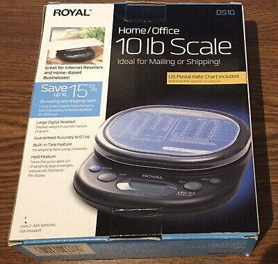 Royal Home Office 10 Lb Scale For Mailing Or Shipping With Us Postal Rate Chart