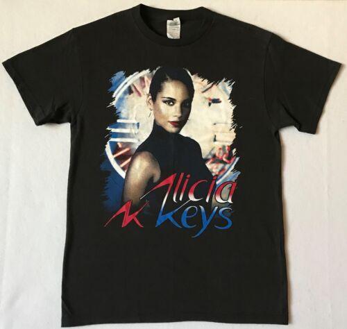 ALICIA KEYS Tour 2013 Size Medium Black T-Shirt