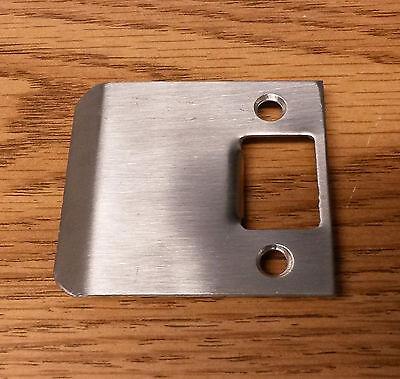 Extended Full Lip Strike Plate US15 619 Satin Nickel Door Lock Striker