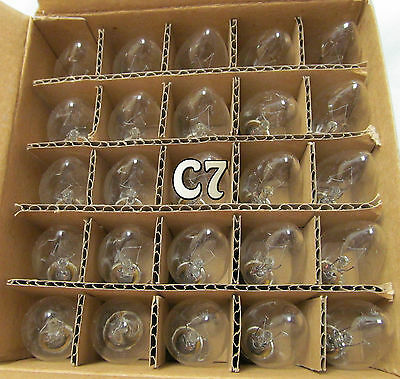 25 - C7 Clear Transparent Glass Replacement Bulbs Wedding Christmas Holiday