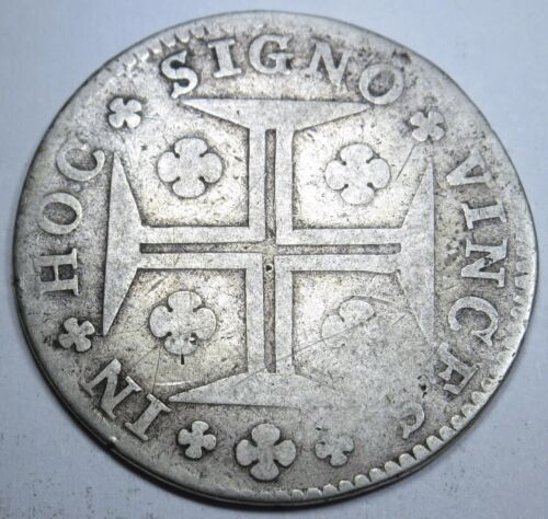 Portugal 1774 200 Reis Key Date Coin Antique Rare Portuguese Currency Money