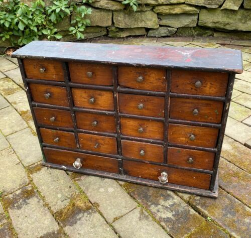 Antique 18 Drawer Country Store Piece, 19th Century, Tabletop/Apothecary