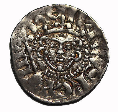 Great Britain Henry III 1216-1272 AD Silver Penny Medieval Coin S.1367a