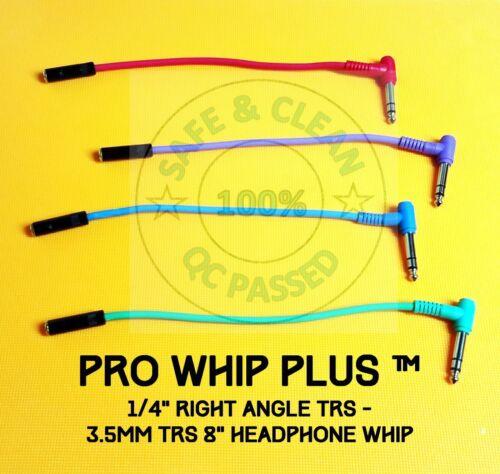 "Pro Whip PLUS - Pro Headphone Extension Whip 1/4"" TRS Right Angle- NEUTRIK 3.5mm"