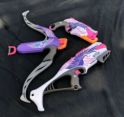 🔥NERF Lot Of 3🔥 Rebelle Guardian, Heart Breaker Bow, Sweet Revenge Revolver