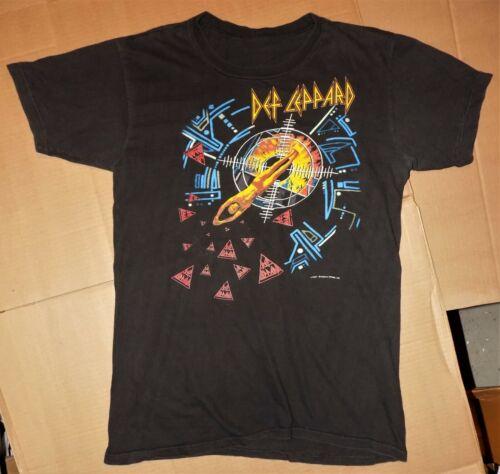 Vintage HTF heavy metal concert shirt DEF LEPPARD 1987 HYSTERIA TOUR rock L-XL