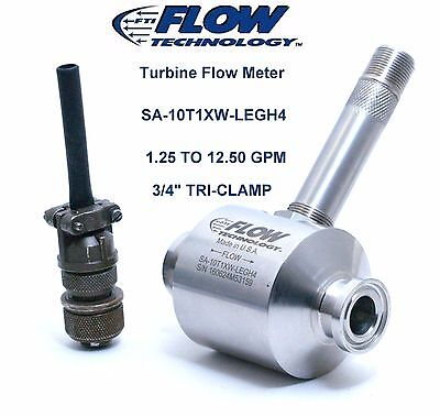 Flow Meter 1.25 To 12.50 Gpm New Flow Technology Sa Series 34 Sa10t1xw-legh