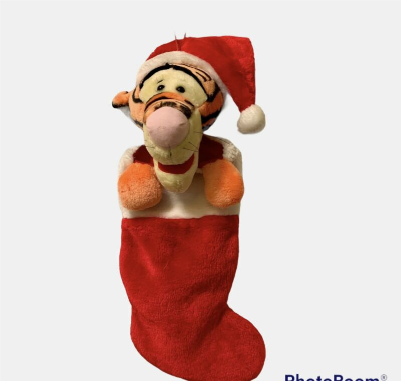 "Vintage Disney Tigger Plush Stocking Christmas 20"" Winnie The Pooh"