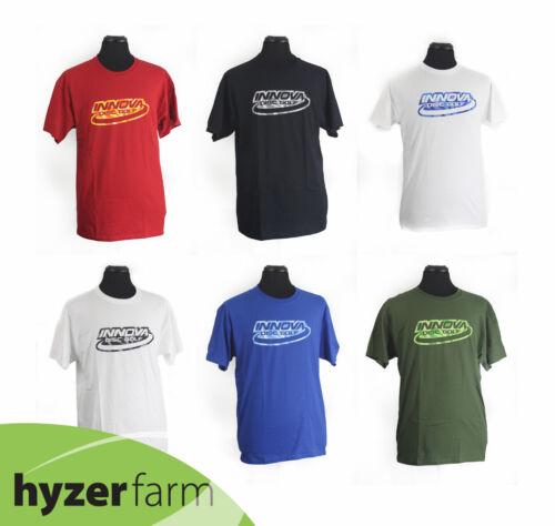 INNOVA SHATTER LOGO Short Sleeve Cotton T-Shirt *pick color and size* Hyzer Farm