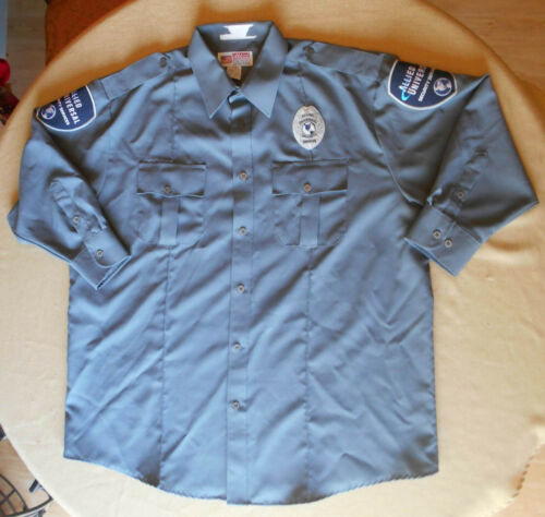 Allied Universal Security Services Uniform Shirt - Gray 18 - 18.5 - Long Sleeve
