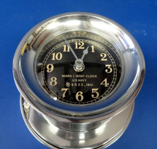 US NAVY MKI BOAT CLOCK 1941- NEW CONDITION