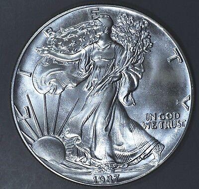 1987 1 oz AMERICAN SILVER EAGLE BRILLIANT UNCIRCULATED ASE  SKU1987B