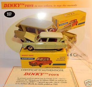 Dinky Toys Atlas Citroen Ami 6 Vert Tilleul Ref 557 Capot