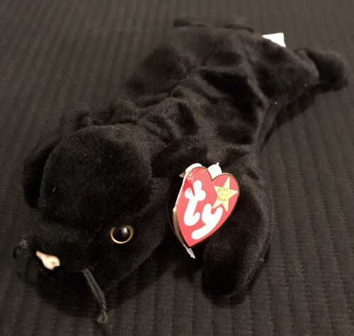 Ty Beanie Babies Velvet Black Panther 1995 PVC Pellets NWT