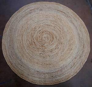 New 200cm Woven Natural Jute Atrium Round Weave Floor Rugs Melbourne CBD Melbourne City Preview