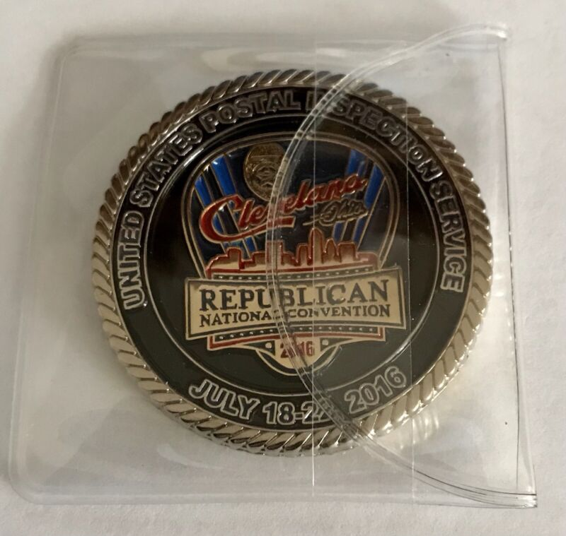 2016 Republican National Convention Cleveland OH Postal Inspector Challenge Coin
