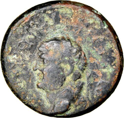 Vespasian - NGC Ch F 4/5 2/5 - Aigai, Aiolis - Bronze AE 19 - 6g RARE ISSUE -186