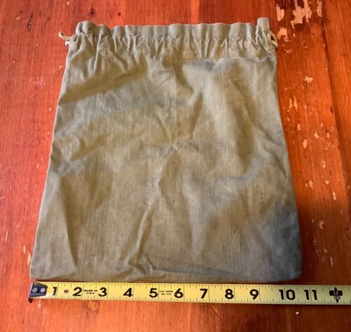 Vintage WW2 American Red Cross Cloth Drawstring Bag