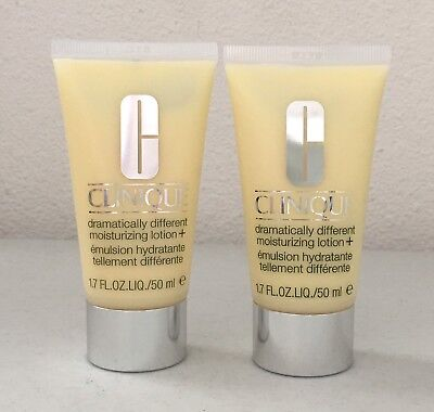 Lot 2 x Clinique Dramatically Different Moisturizing Lotion + 1.7oz/ 50ml Each