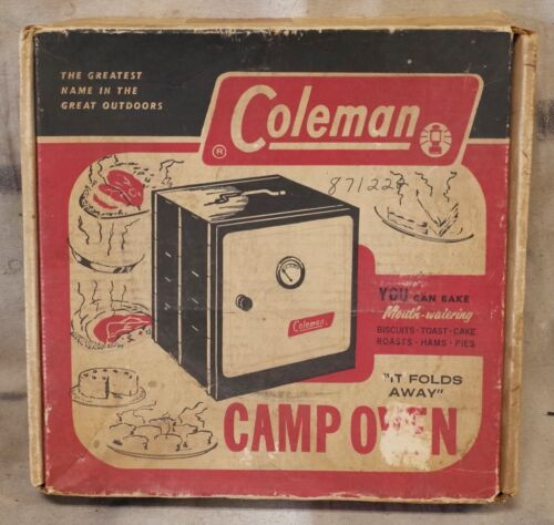 vintage COLEMAN Model 5010A700 CAMP OVEN & Original Box * USE with camp stove