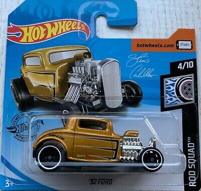 2019 Hot Wheels '32 Ford Gold Steve Caballero Rod Squad Brand New!