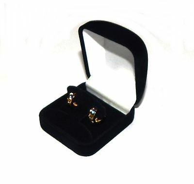6 Hoop Or Post Earring Black Velvet Gift Boxes Jewelry Display