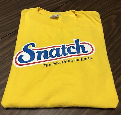 Vintage SNATCH Best Stuff on Earth Yellow T-shirt Adult Size XL - Extra (Best Stuff On Earth)
