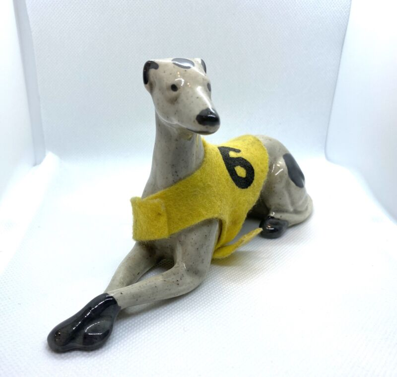 Vintage Greyhound Porcelain Figurine Souvenir #6