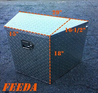 Aluminum Tongue Tool Box Truck Trailer Diamond Plate Storage Towing Tractor Bed  Aluminum Diamond Plate Tool Box