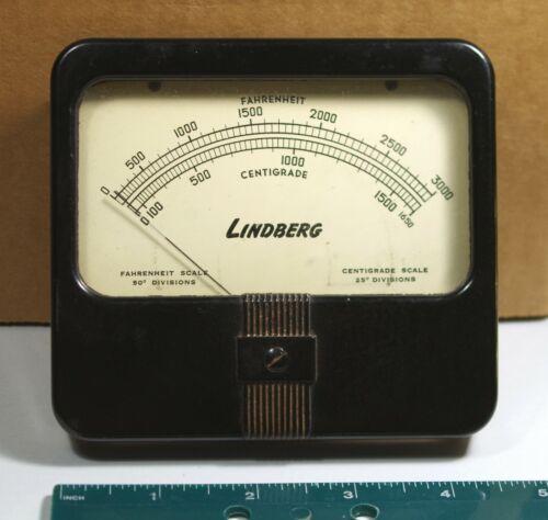 Vintage Lindberg Temperature Meter 0-3000 F 0-1650 Centigrade - Simpson Electric