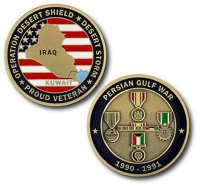 NEW  Persian Gulf War / Desert Storm Veteran Challenge Coin  War Veteran Challenge Coin