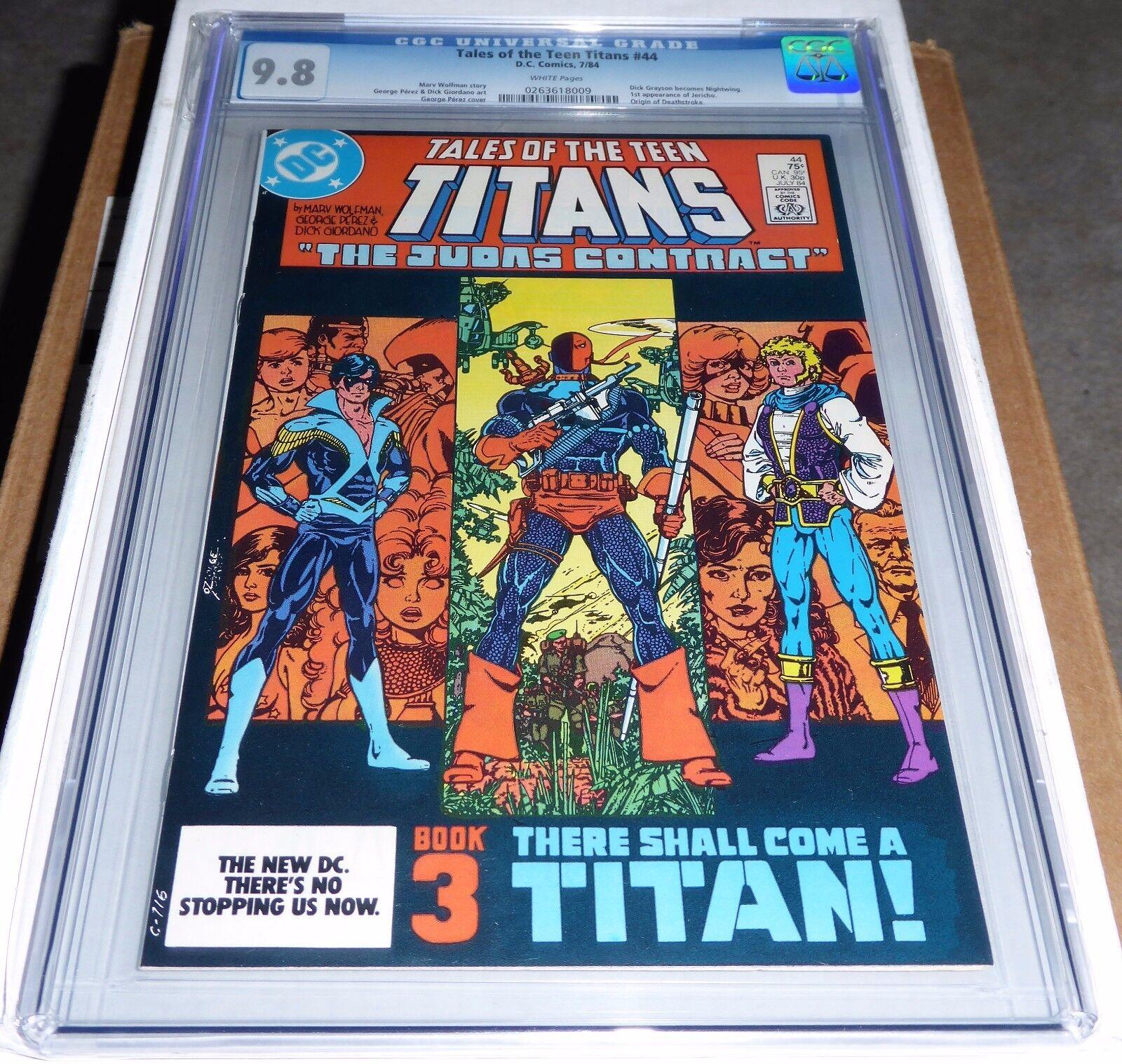 Tales of the Teen Titans #44 CGC Universal Grade 9.8 Origin of Deathstroke Comic