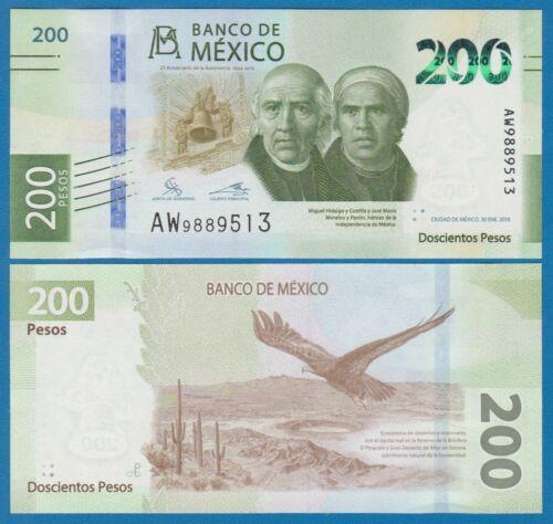 Mexico 200 Pesos P NEW 2019 UNC Commemorative Low Shipping Combine FREE