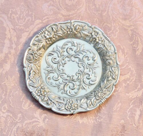 S KIRK & SON STERLING SILVER 27F  BUTTER PAT OR COASTER ** EXCELLENT **