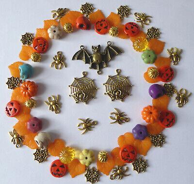 Kürbis Totenkopf Fledermaus Spinne Netz Basteln  (Orange Halloween)