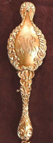 ANTIQUE 14K YELLOW GOLD ORNATE FOLDING LORGNETTE GLASSES - REPOUSSÉ FLEUR DE LIS