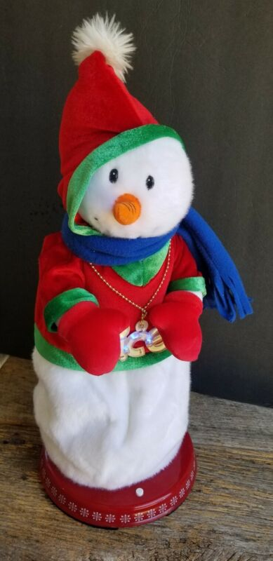 GEMMY Animated Ice Ice Baby Cool Rapping Vanilla Ice Snowman