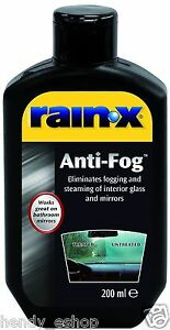 Rain X Anti Fog Eliminates Fogging Steaming Mist Interior Glass Mirrors 200ml Ebay