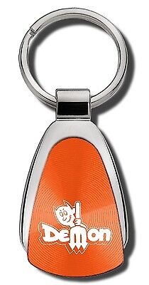 Dodge Dart Demon Orange Teardrop Keychain Key Chain Fob Ring