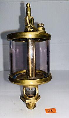 Ihc Brass Cylinder Oiler Tinted Glass Hit Miss Gas Engine Antique Steam