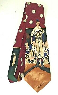 NORMAN ROCKWELL SATURDAY EVENING POST CHICAGO CUBS SILK TIE -