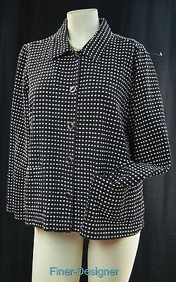 Christopher & Banks B&W blazer suit JACKET light coat chic button shabby L NEW