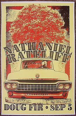 NATHANIEL RATELIFF 2015 Gig POSTER Portland Oregon Concert