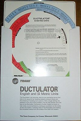 New Trane Ductulator Duct Sizing Calculator Slide Chart Graph With Sleeve