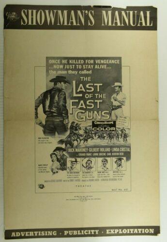 1958 Press Book Manual The Last of The Fast Guns Jock Mahoney Lorne Greene