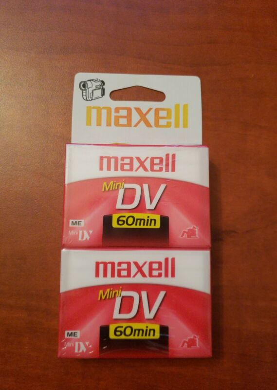 MAXELL MINI DV 60 MIN TAPES NEW/FACTORY Sealed 2 pack