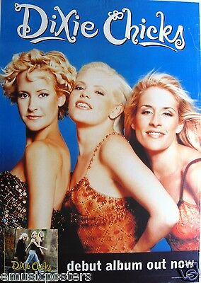 "DIXIE CHICKS ""DEBUT ALBUM"" AUSTRALIAN PROMO POSTER - Country Rock Music"